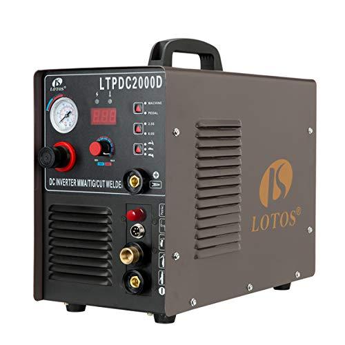 LOTOS LTPDC2000D Non-Touch Pilot Arc 50A Plasma Cutter 200A Tig Welder & Stick Welder...