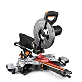 Compound Miter Saw, TACKLIFE 10-Inch Sliding Miter Saw, with Double Speed (4500 RPM &...