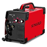 SUNGOLDPOWER MIG Welder 140A Gas and Gasless Welding 110/220V Dual Voltage IGBT DC...