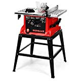 Goplus Table Saw, 10-Inch 15-Amp Portable Table Saw, 36T Blade, Cutting Speed Up to...