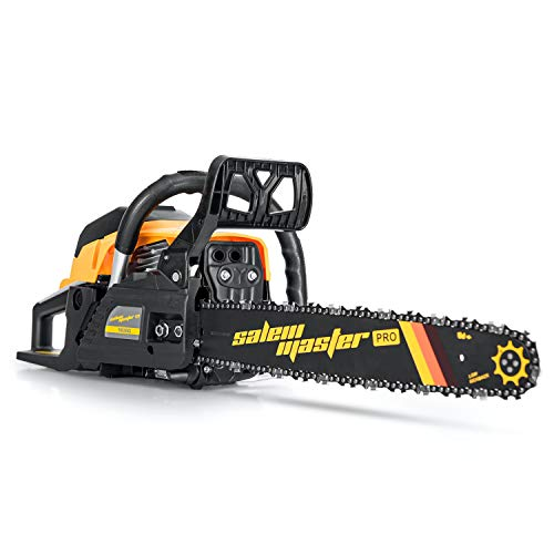 SALEM MASTER Chainsaw for Trees Gas Powered 58CC 2-Cycle Gas Chainsaw, 18-Inch...