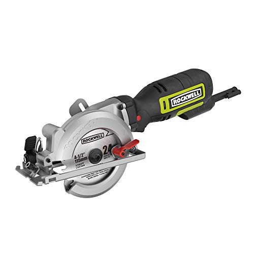 """Rockwell 4-1/2"""" Compact Circular Saw, 5 amps, 3500 rpm, with Dust Port and Starter..."""