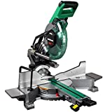 Metabo HPT 10-Inch Sliding Miter Saw | Zero Rear Clearance Slide System | Dual Bevel...