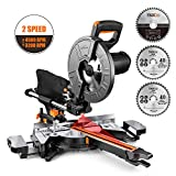 TACKLIFE 10-Inch Sliding Compound Miter Saw, 15 Amp Motor with Double Speed (4500 RPM...