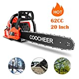 Ladyiok 62CC Chainsaw 20' Powerful Chainsaw 3.5HP 2 Stroke Handed GasPowered Chain...