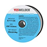 YESWELDER Flux Core Mig Wire, Mild Steel E71TGS.030-Diameter, 10-Pound Spool