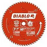 Freud D0760A Diablo 7-1/4' x 60-Tooth Ultra Fine Finishing Circular Saw Blade with...