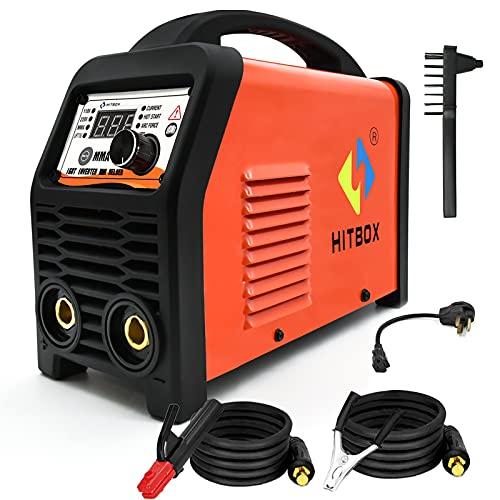 HITBOX 110/220V MMA Welder, 200A ARC Welding Machine with Lift Tig Function, IGBT...