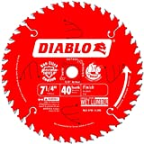 Freud D0740A Diablo 7-1/4 40 Tooth ATB Finishing Saw Blade with 5/8-Inch Arbor,...