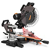 Compound Miter Saw, TACKLIFE 12-Inch Double Sliding Miter Saw With 15 Amp Motor,...