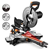 TACKLIFE Miter Saw, 10-Inch Sliding Miter Saw with Double Speed (4500 RPM & 3200...
