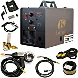 LOTOS MIG175 175AMP Mig Welder with Free Spool Gun, Mask, Aluminum Welding Wires,...